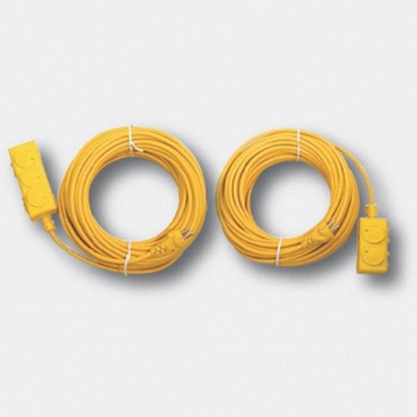20M 2구 연장선(노랑) 접지형 콘센트